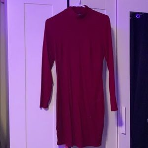 DYNAMITE fitted turtle neck dress